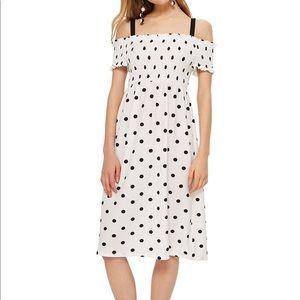 NWT Topshop Polka Dot Dress